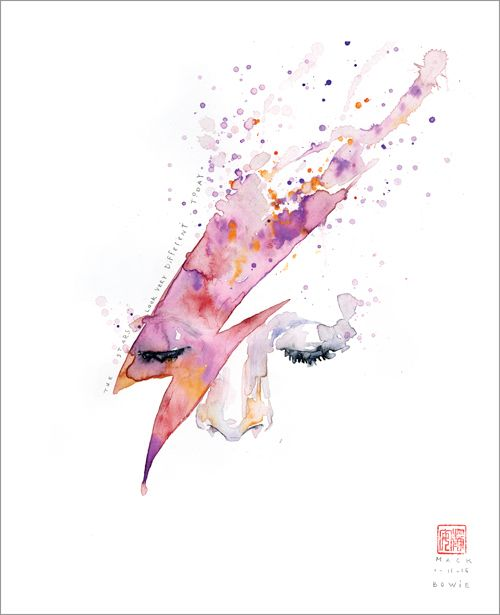 The David Bowie inspired 'The Stars Look Very Different Today' by David Mack, is a print release from Gallery Nucleus.