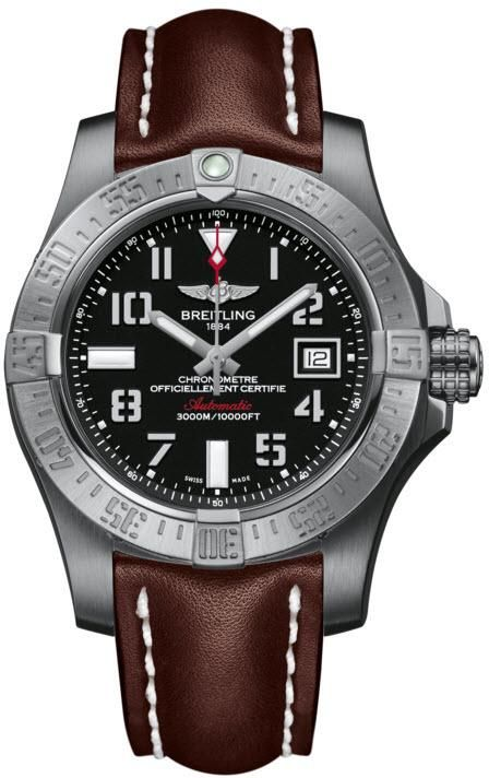 Breitling Watch Avenger Seawolf #add-content #bezel-unidirectional #bracelet-strap-leather #brand-breitling #case-depth-18-4mm #case-material-steel #case-width-45mm #cosc-yes #date-yes #delivery-timescale-call-us #dial-colour-black #gender-mens #luxury #movement-automatic #new-product-yes #official-stockist-for-breitling-watches #packaging-breitling-watch-packaging #style-divers #subcat-avenger #supplier-model-no-a1733110-bc31-437x #warranty-breitling-official-2-year-guarantee