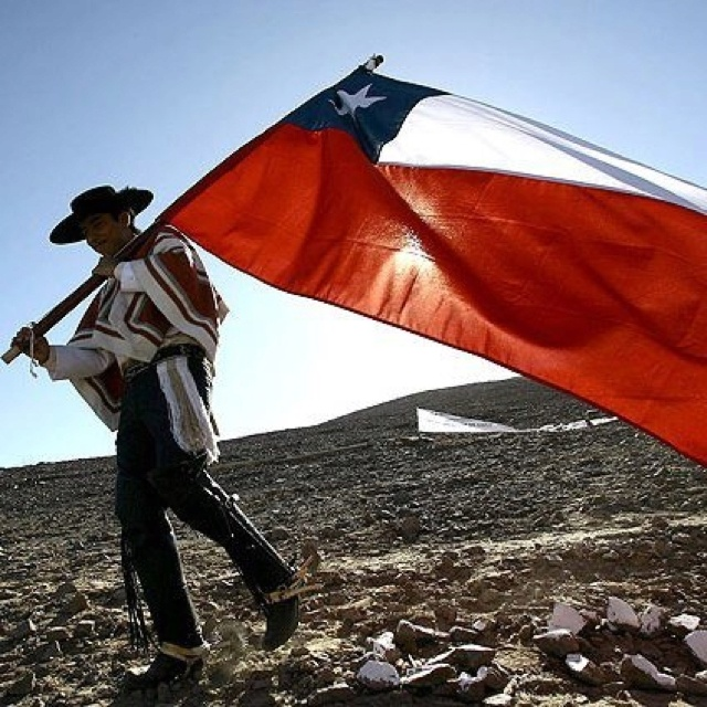 "Viva Chile!!  My father used to say that but with an extra addition ""Viva Chile Mierda!"""
