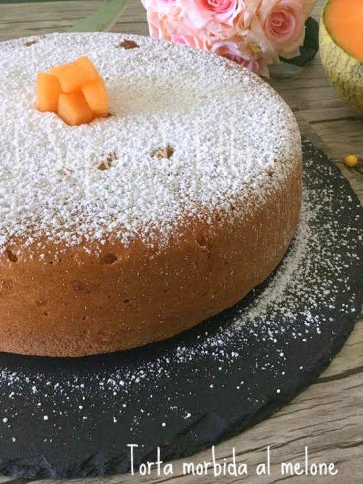 torta morbida al melone