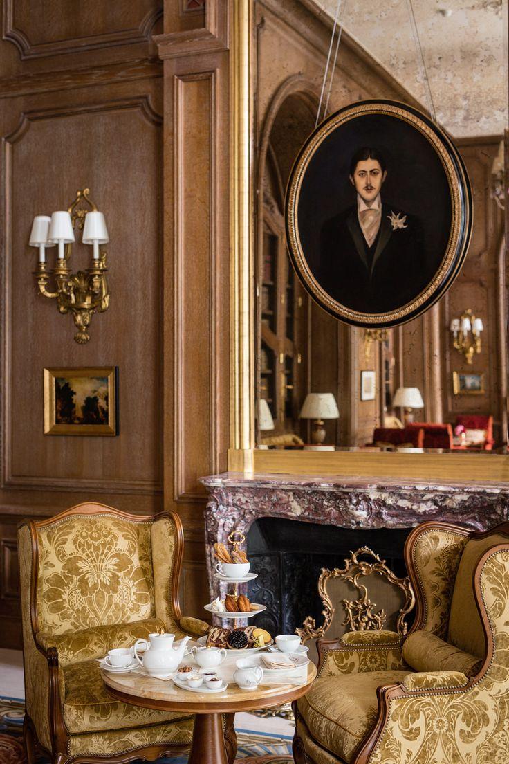 The Ritz, Paris. Louis XV style #fireplace in Fleur de Pêcher marble. #interiordecoration #antique #19thcentury #classic #style #interiordesign
