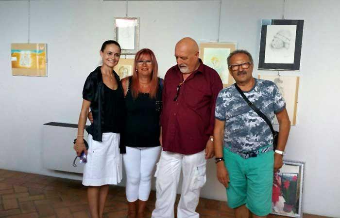 Con Paola e Luciano Santoni, miei allievi e l'artista Albino Ripani (ARi)