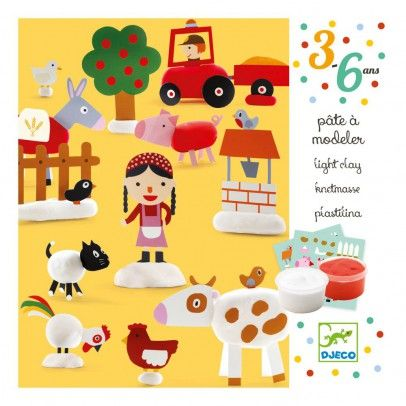 Djeco Farm Playdough `One size Details : 3 Sheets with detachable forms, 2 pot(s) of modelling dough * Age : 3 to 6 years old * Box 16 x 16 x 5 cm. http://www.MightGet.com/january-2017-13/djeco-farm-playdough-one-size.asp