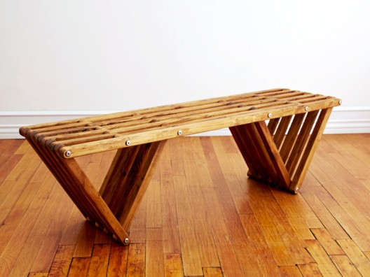 Bench X60 from Andy Griffith+Rose Apodaca >> Wonderful!Ideas, Wooden Benches, Handcrafted Wood Furniture, Gardens, Glodea Benches, House, Weightloss, Minimal Design, Benches X60