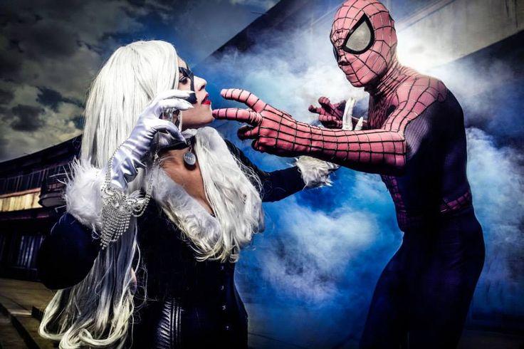 Black Cat and Spiderman Cosplay by karollhell on DeviantArt Black Cat https://www.facebook.com/karollvianacosplay photographer https://www.facebook.com/danieladamr #balckcat #cosplay #spiderman #marvel