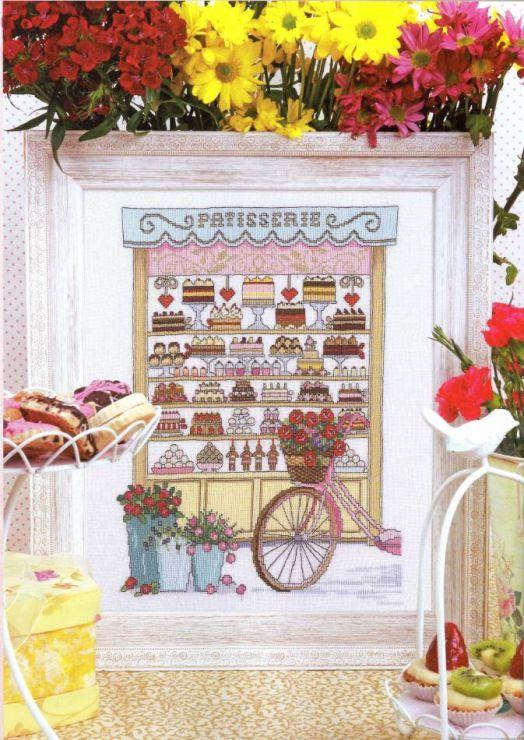 Un sampler fantastico per gli amanti di dolci, di pasticcerie.... e del punto croce ovviamente!!!!!