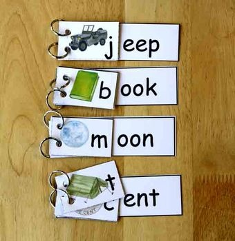 Rhyming Word Family Flip Books (free; for Grades K,1& 2; from Gramma Elliot…