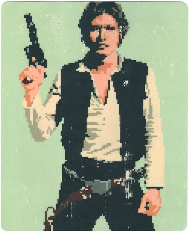 Han Solo /by Hollis Brown Thornton #pixel #paper #art $100