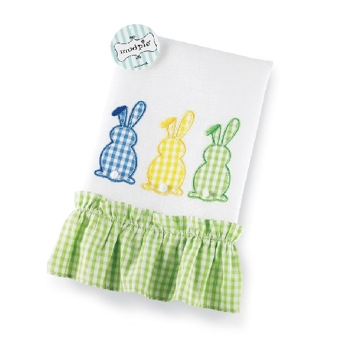 Linen Bunny Towel By Mud Pie Cute Easter Outfits For Little Ones To At  Shelley B · Kitchen LinensKitchen TowelsHoppy ...