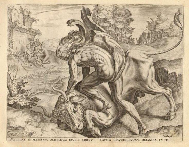 3.ΑΘΛΟΙ ΤΟΥ ΗΡΑΚΛΗ...[The Labours of Hercules..Cornelis Cort.1565.]