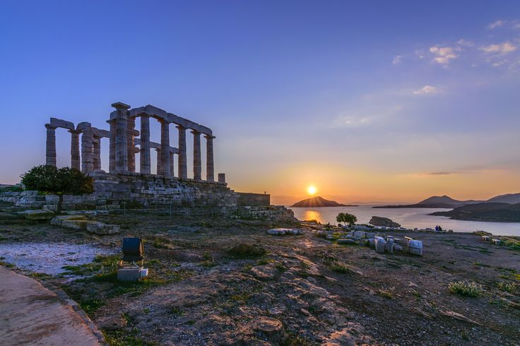 Temple of Poseidon - Adminiring one of the most amazing sunsets you could ever imagine