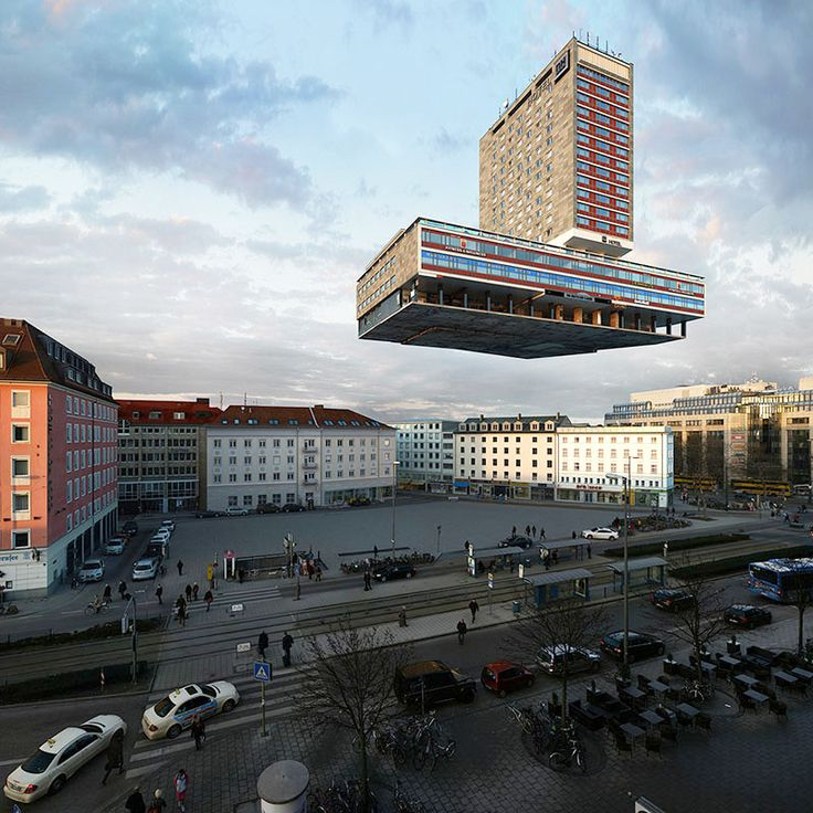 Photographer Víctor Enrich Imagines the Same Building in Munich Configured in 88 Ways  http://www.thisiscolossal.com/2013/12/photographer-victor-enrich-imagines-the-same-building-in-munich-configured-in-88-ways/
