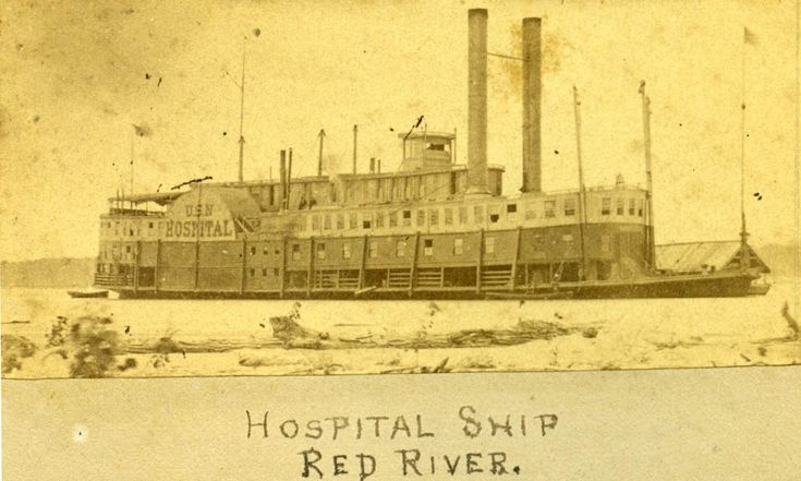 The USS Red Rover was a side wheel steamer built in 1859 at Cape Girardeau, Missouri; purchased by the Confederacy on November 7, 1861 until she was captured by the Union gunboat Mound City on April 7, 1862.  Her medical complement included nurses from the Catholic order of the Sisters of the Holy Cross, the first female nurses to serve on a navy ship and the forerunners of the U. S. Navy Nurse Corps.