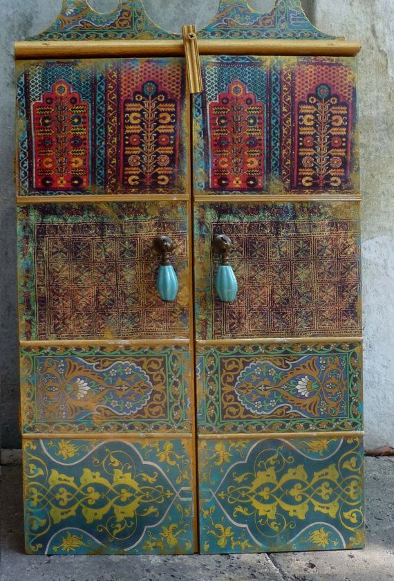 Moroccan inspired Wall Cabinet for jewelry and much more.