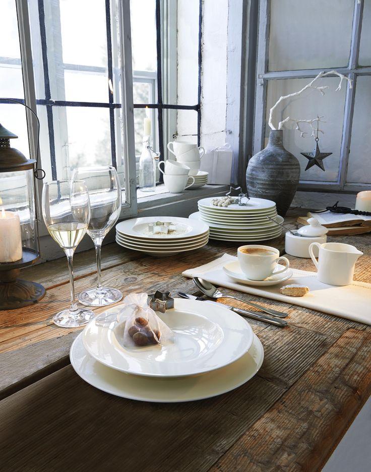 Ein klassisches Tafelservice zu Weihnachten: Auf den edlen Tellern von VILLEROY & BOCH kommen eure leckeren Gerichte besonders gut zur Geltung.