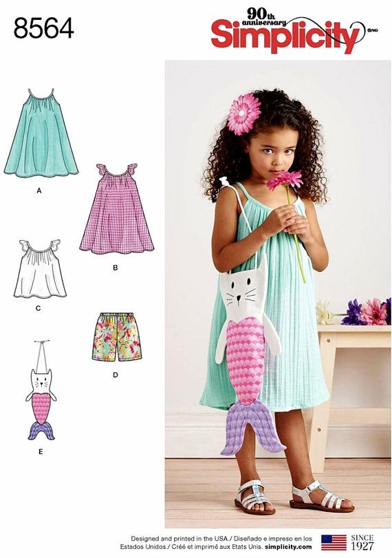Shorts /& Pant... Tops Simplicity Toddlers Easy Sewing Pattern 1451 Dresses