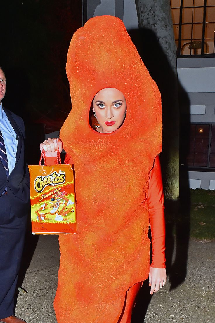 Depending Who You Ask, Katy Perry Either Dressed as a Cheeto or a Giant Orange Turd for Halloween | Celebuzz