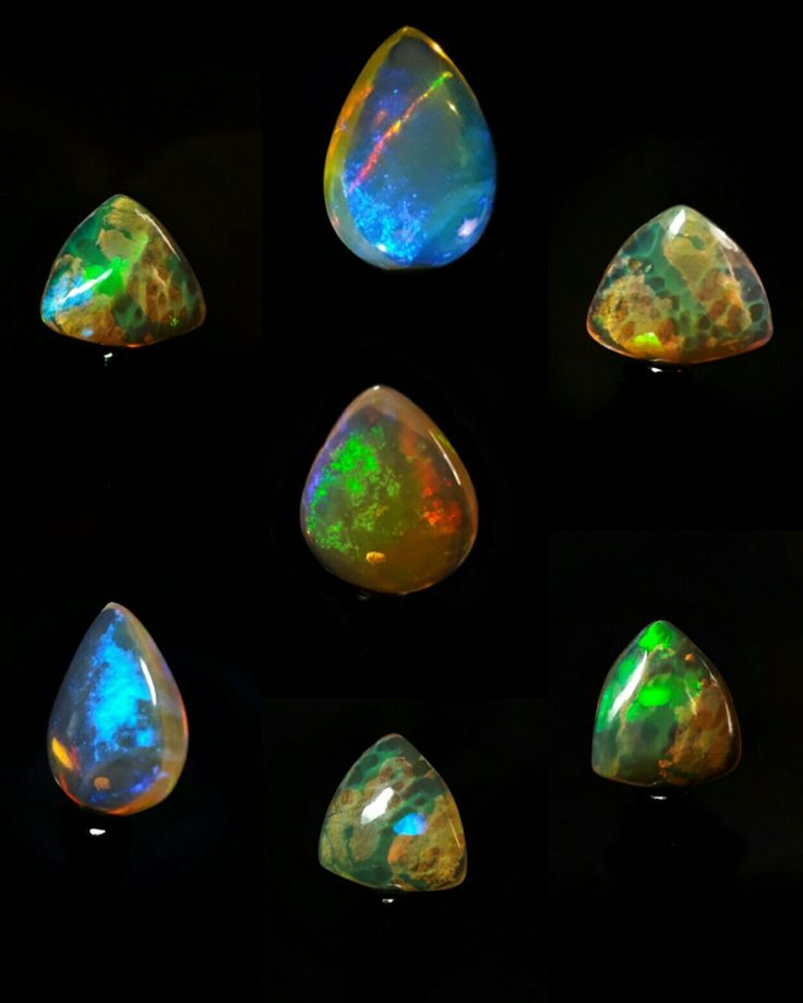 Ethiopian opal collection Cat's eye and Honeycomb