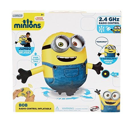 Minions Bob Movie Inflatable Radio Control 60cm Approx