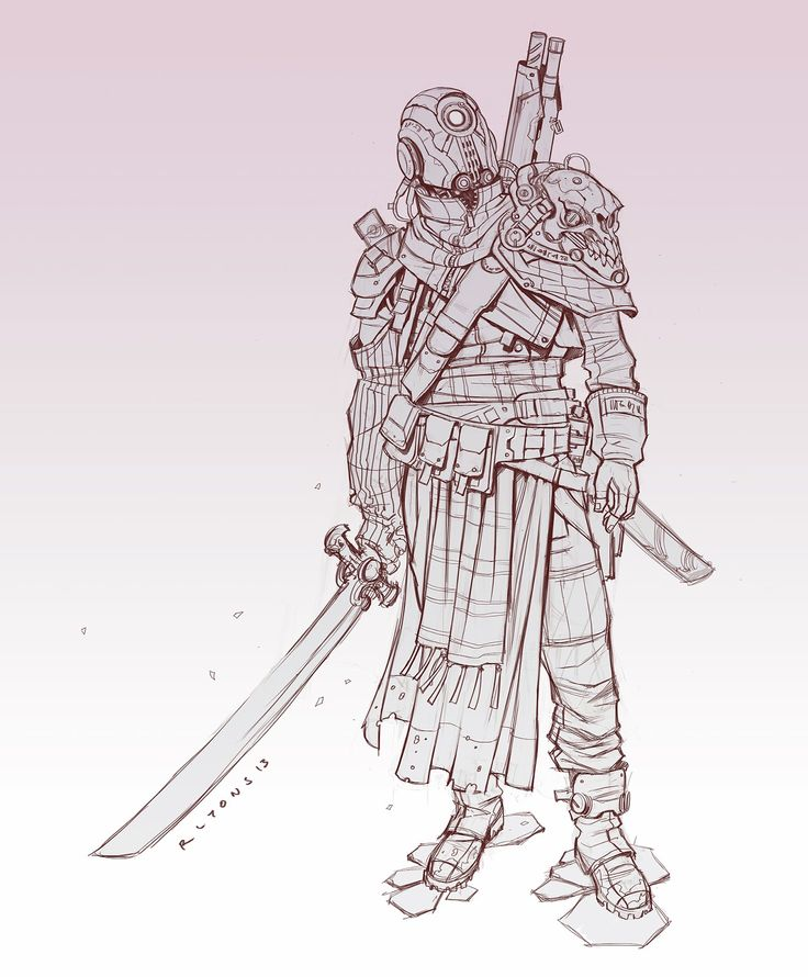 RLyonsArt: Destiny inspired character sketch
