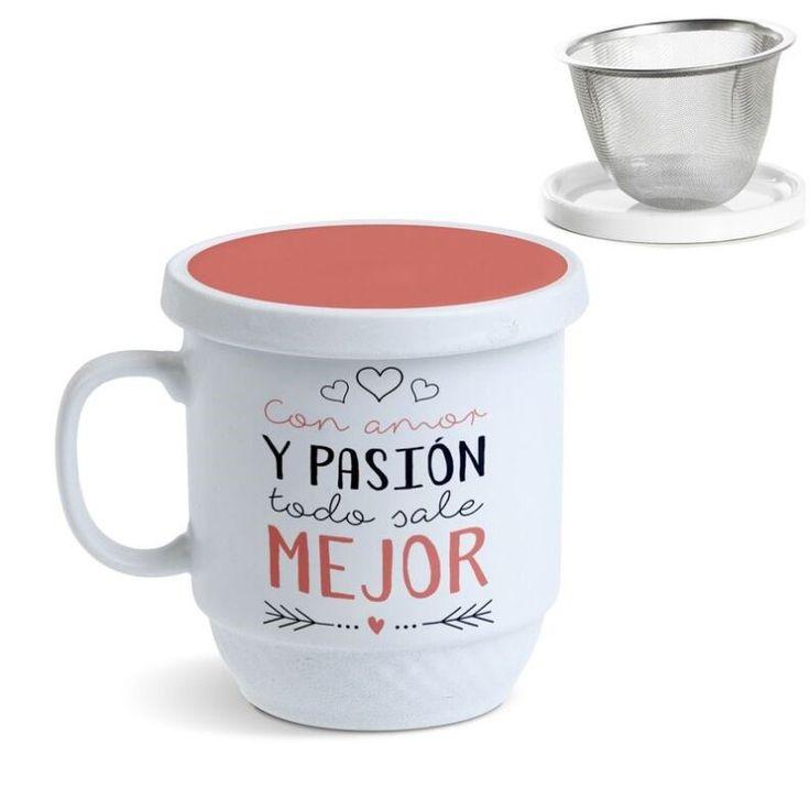 Tisana Con amor y pasión todo sale mejor. Una tisana perfecta para prepararte tus tés más sabrosos. En Decocuit podrás disfrutar de un té con una taza de té con filtro apta para microondas y lavavajillas. Estamos en C/ San Pablo 22, Burgos, o en nuestra tienda on line www.decocuit.com.