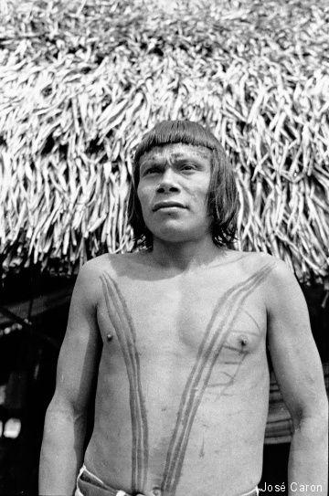 Nos anos 1970, quando os grandes projetos como a Transamazônica, a linha de transmissão da Hidrelétrica de Tucuruí e a ferrovia de Carajás chegaram ao sudeste do Pará – e com eles a violenta política de atração e pacificação dos índios promovida pelo Estado brasileiro –, Kokrenum viu seu território ser degradado. Ele também viu os Gavião serem escravizados pelo Serviço de Proteção ao Índio (SPI) e pela Funai na coleta de castanha.