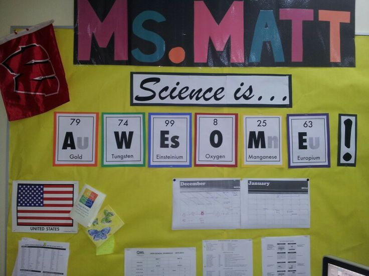 great classroom bulletin board ideas for middle school science - Google Search