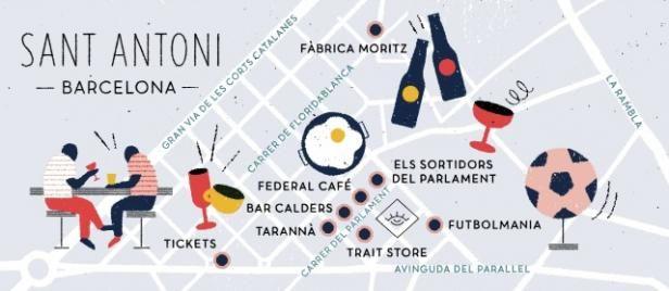 Barcelonan trendikäs Sant Antoni   Mondo.fi