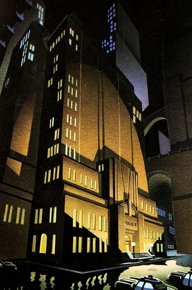 Batman The Animated Series' Gotham City Police Headquarters by Richie Chavez and Steve Butz