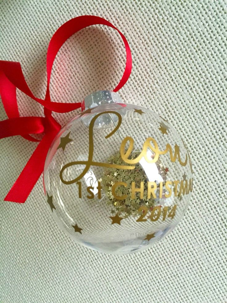 Personalised baubles are a perfect Christmas gift, especially for those first christmas's