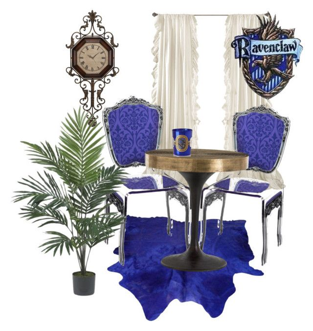 """""""Ravenclaw inspired room"""" by hogwartsinspired on Polyvore featuring interior, interiors, interior design, home, home decor, interior decorating, WALL, Arteriors, Diptyque and Nearly Natural"""