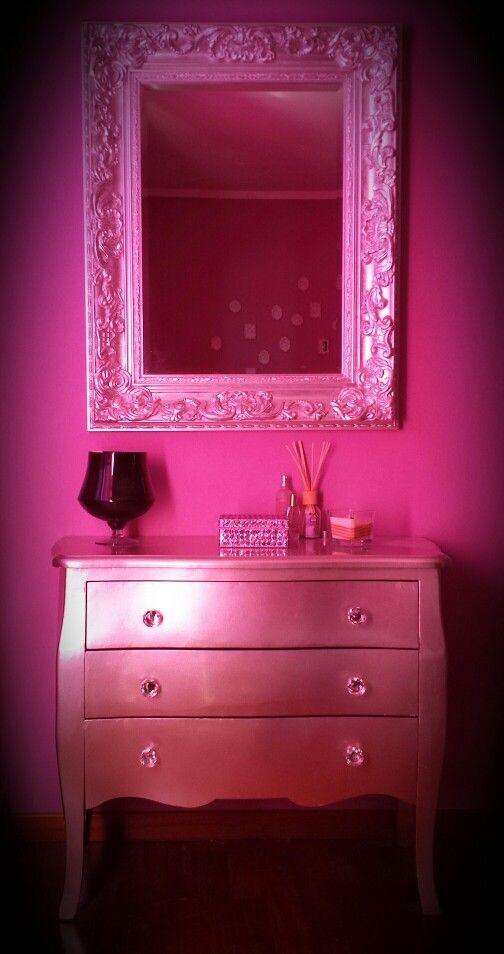 Comò argento specchio  barocco