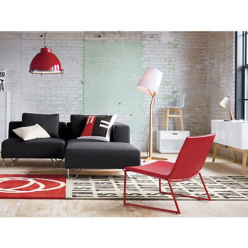 Triumph Red Lounge Chair Red And White Lighting Black