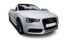 Der schöne Audi A5 mit dickem Stoffverdach glänzt mit Eleganz