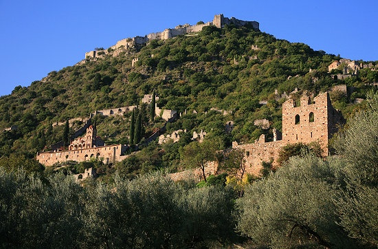 The old Byzantine city of Mystras in Peloponesse