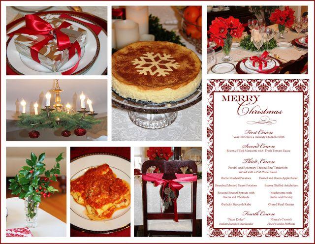 italian christmas dinner | Stranded in Cleveland: Italian Christmas Dinner | Menu | Red Damask ...