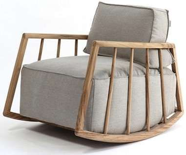 Cozy Maternal Rockers - The Mama Rocking Chair Boasts Large Contemporary Cushions (GALLERY)