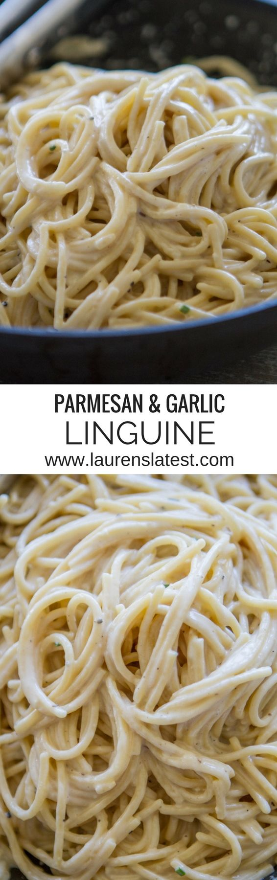 Parmesan & Garlic Linguine....a fast, creamy, garlicky, vegetarian dinner!! Add chicken and veggies for a complete meal.