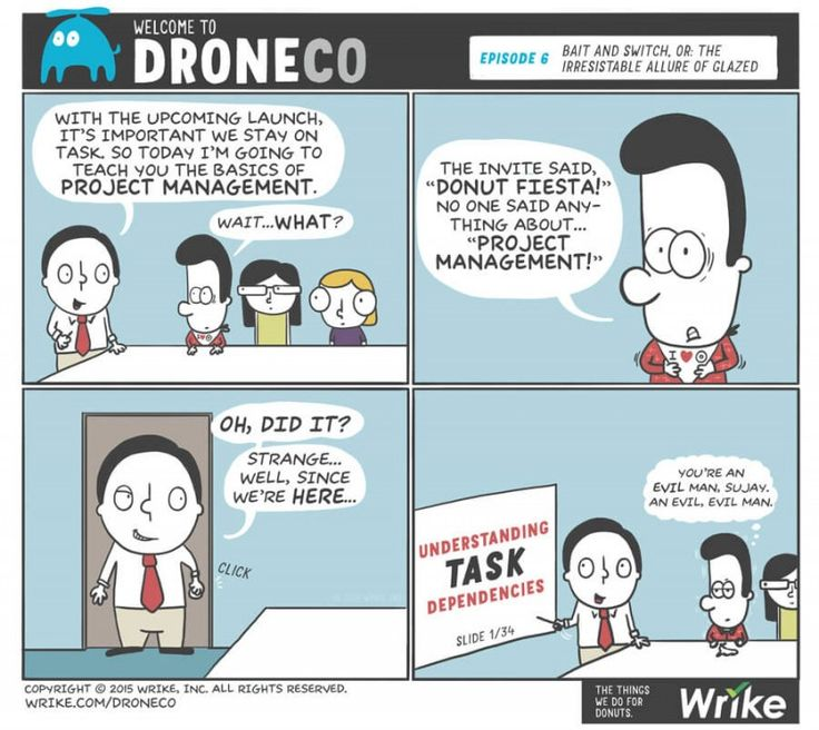 Welcome To DroneCo Episode 6 Are Marketers Allergic Project Management Good TipsProject ManagementFunny