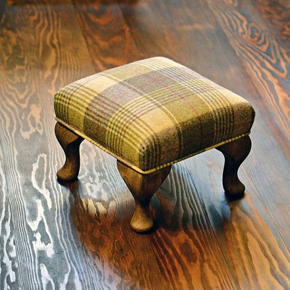 Small Footstool Moon Huntingtower Grape by FlossysFootstools