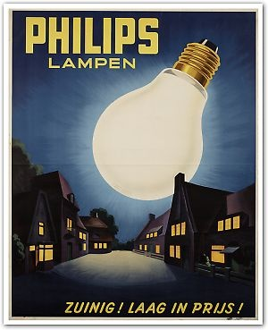Philips lamps - ad from the past