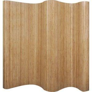 Omschrijving:   Dit kamerscherm van bamboehout is niet alleen een blikvanger in uw kamer, maar kan ook privacy creëren.  Het geeft een natuurlijk tintje aan iedere kamer.  Het duurzame kamerscherm is ideaal als decoratie in uw kamer, doordat het zorgt voor een gezellige sfeer.  Het kamerscherm is ook geschikt voor in de slaapkamer om een aparte kleedruimte te creëren.  Daarnaast is het kamerscherm ondoorzichtig, waardoor hij veel privacy biedt.  De verdeler kan eenvoudig worden opgerold…