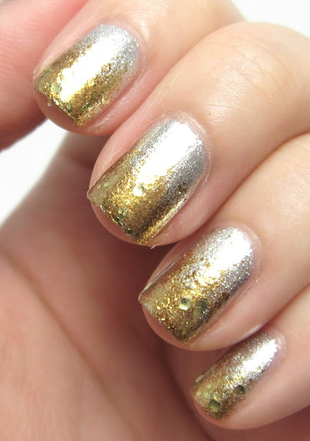 Silver And Gold How They Shimmer Beauty Inside Out Pinterest Nails Nail Art