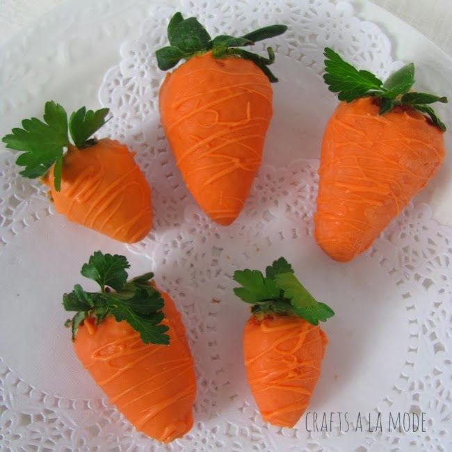 Crafts a la mode : Faux Carrots (They're Really Strawberries)