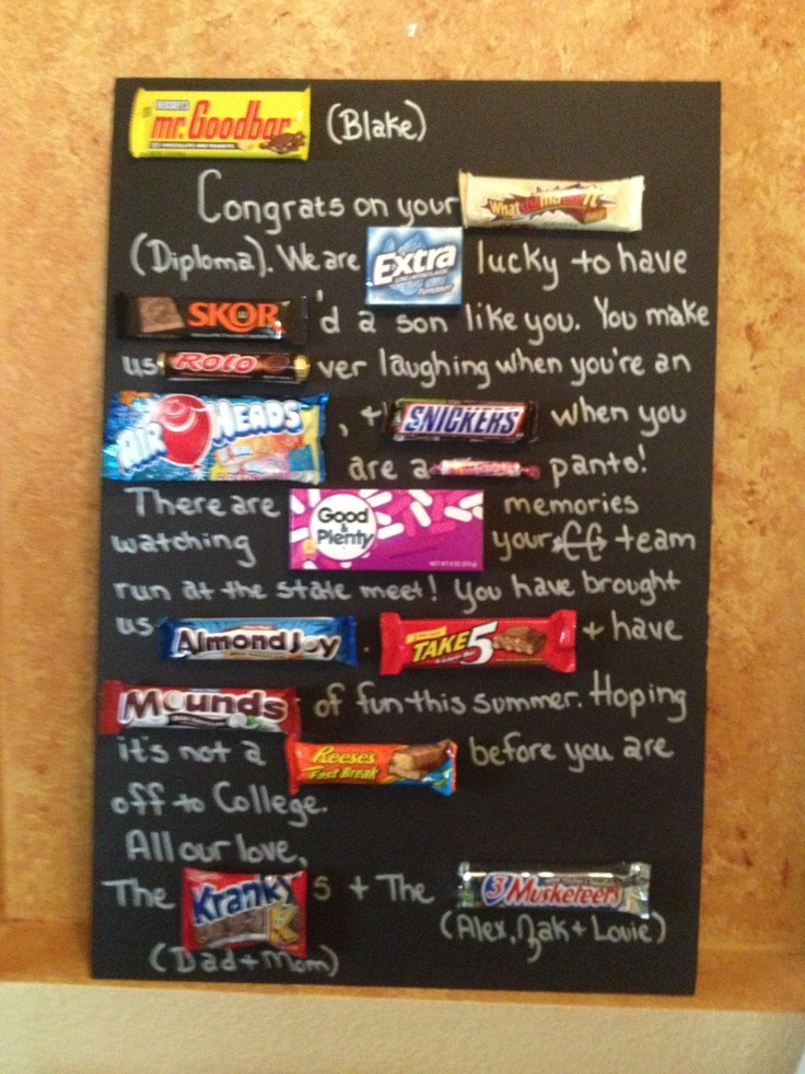 Blake S Graduation Candy Card Gift Ideas Just