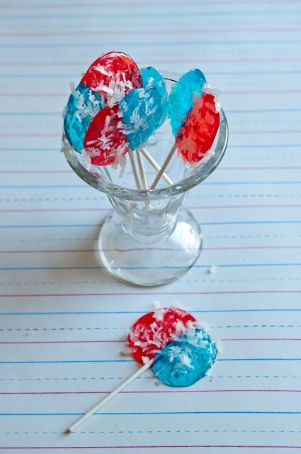 4th of July Red White and Blue Jolly Rancher Suckers