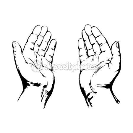 Praying Hands — Stock Vector © VladisChern #21211045