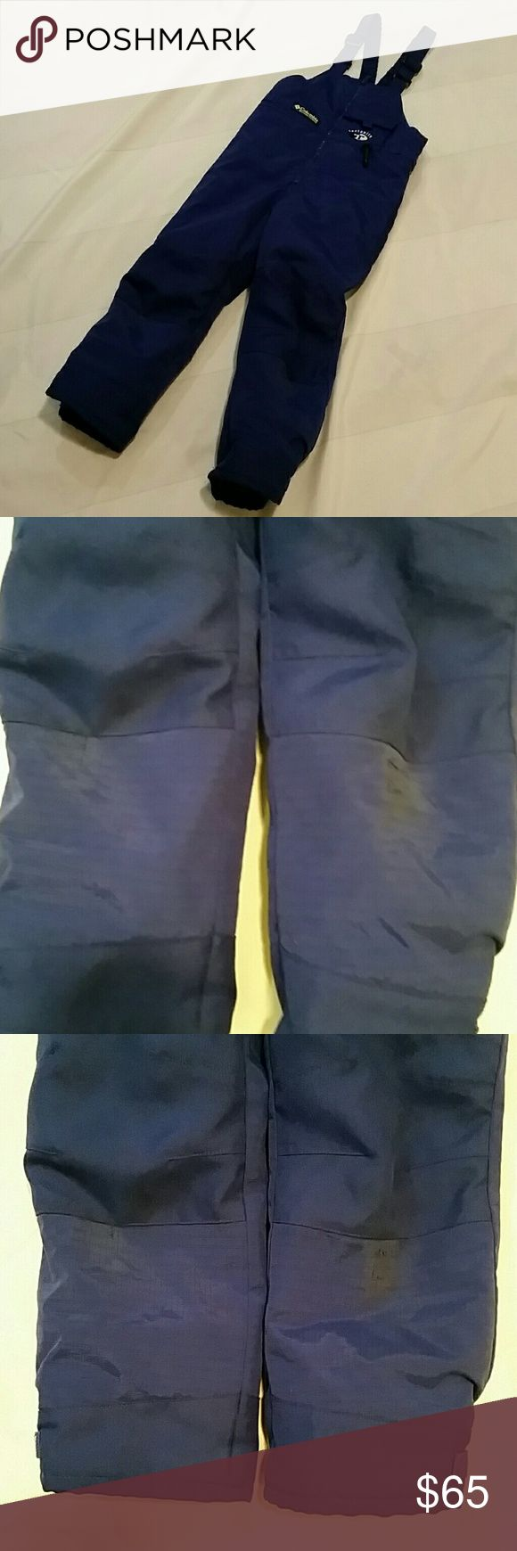 Columbia Kids Snow Pants Bibs size 6 P13. Good condition. Scuffed up/Stained  knees. Columbia Bottoms Jumpsuits & Rompers