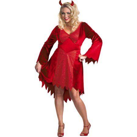 Dazzling Devil Plus Size Adult Halloween Costume, Women's, Size: 2XL, Red