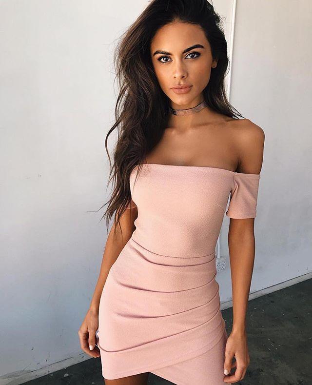 7dbf56c30b2a4 WYHHCJ 2017 Spring Sexy women dress Slash neck Sheath Mini Casual ...